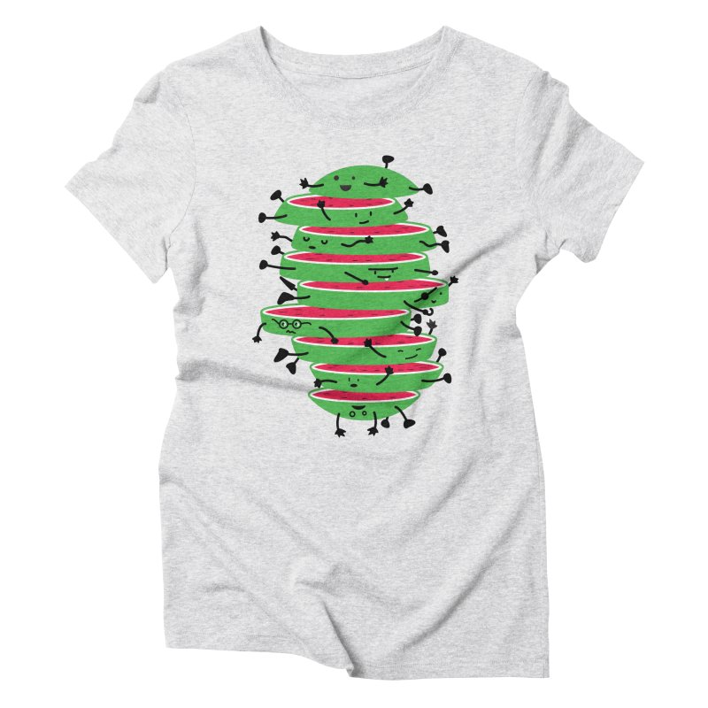 The tough life of a watermelon Women's Triblend T-Shirt by magicmagic