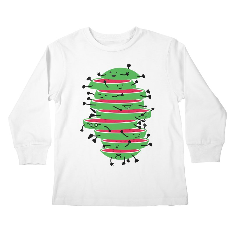 The tough life of a watermelon Kids Longsleeve T-Shirt by magicmagic