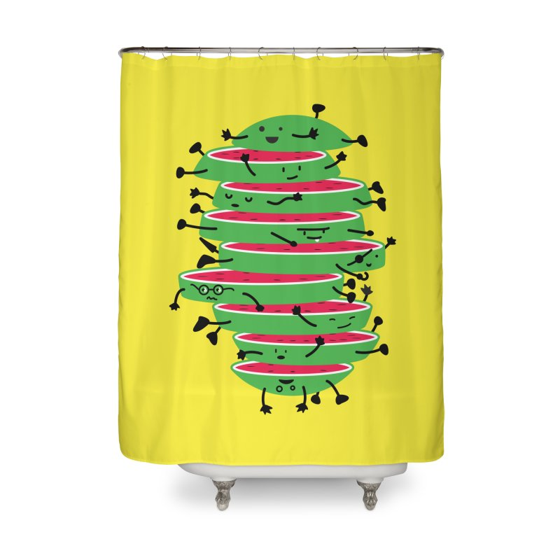 The tough life of a watermelon Home Shower Curtain by MagicMagic Artist Shop