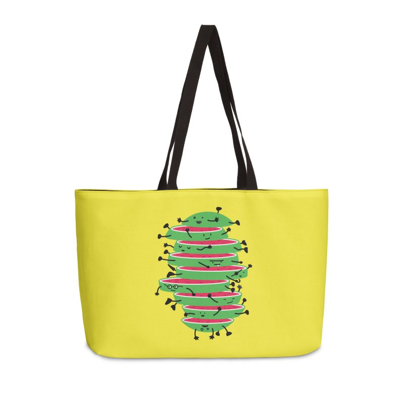 The tough life of a watermelon Accessories Weekender Bag Bag by magicmagic