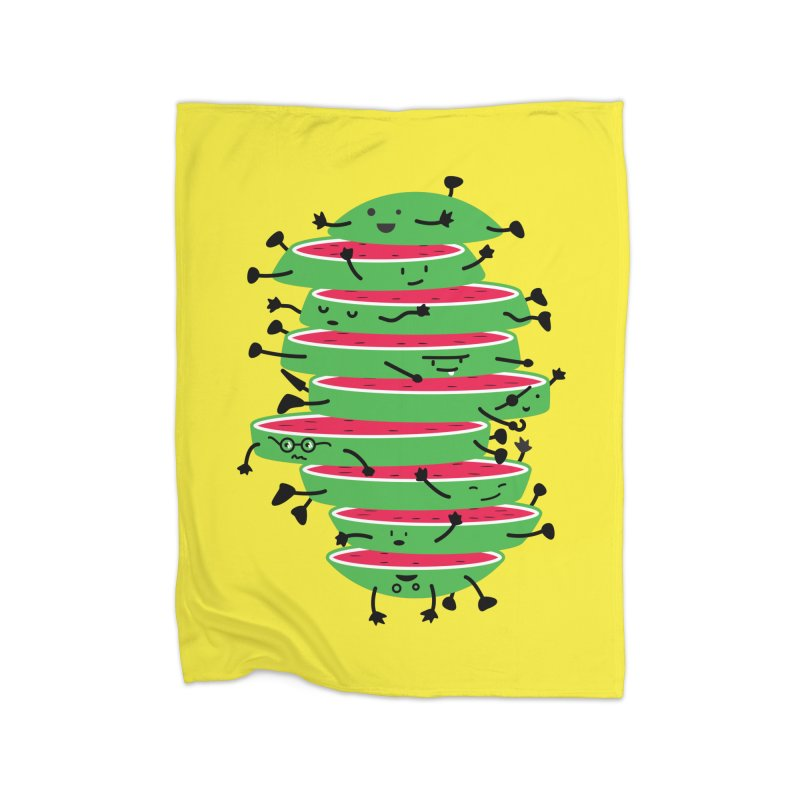The tough life of a watermelon Home Fleece Blanket by MagicMagic Artist Shop