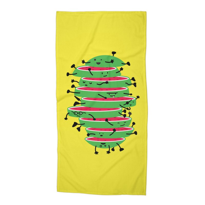 The tough life of a watermelon Accessories Beach Towel by magicmagic