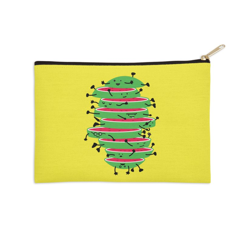 The tough life of a watermelon Accessories Zip Pouch by MagicMagic Artist Shop