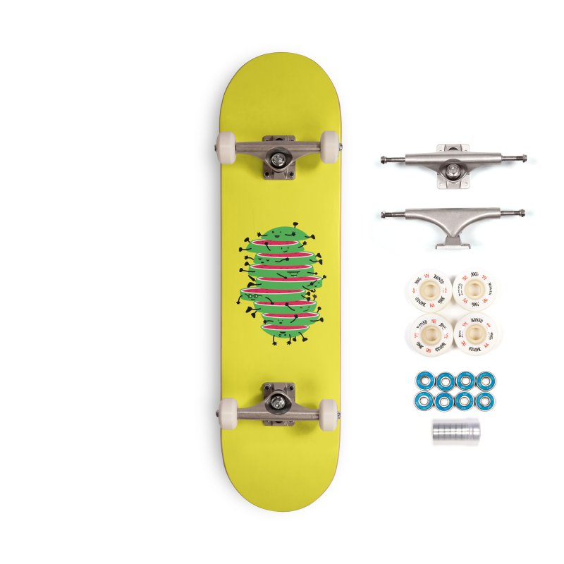 The tough life of a watermelon Accessories Complete - Premium Skateboard by magicmagic