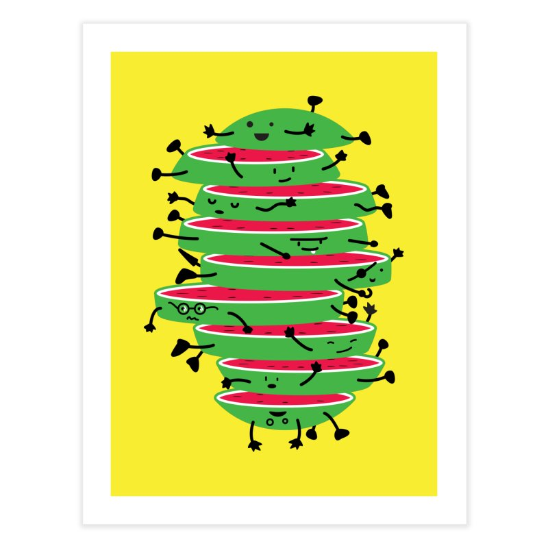 The tough life of a watermelon Home Fine Art Print by magicmagic