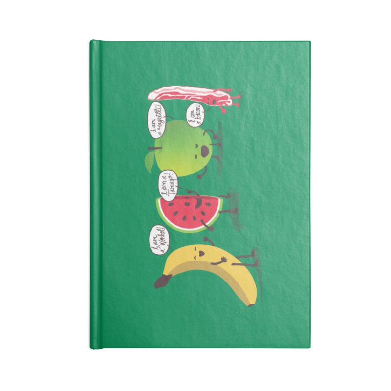 Egos in the fridge Accessories Blank Journal Notebook by magicmagic
