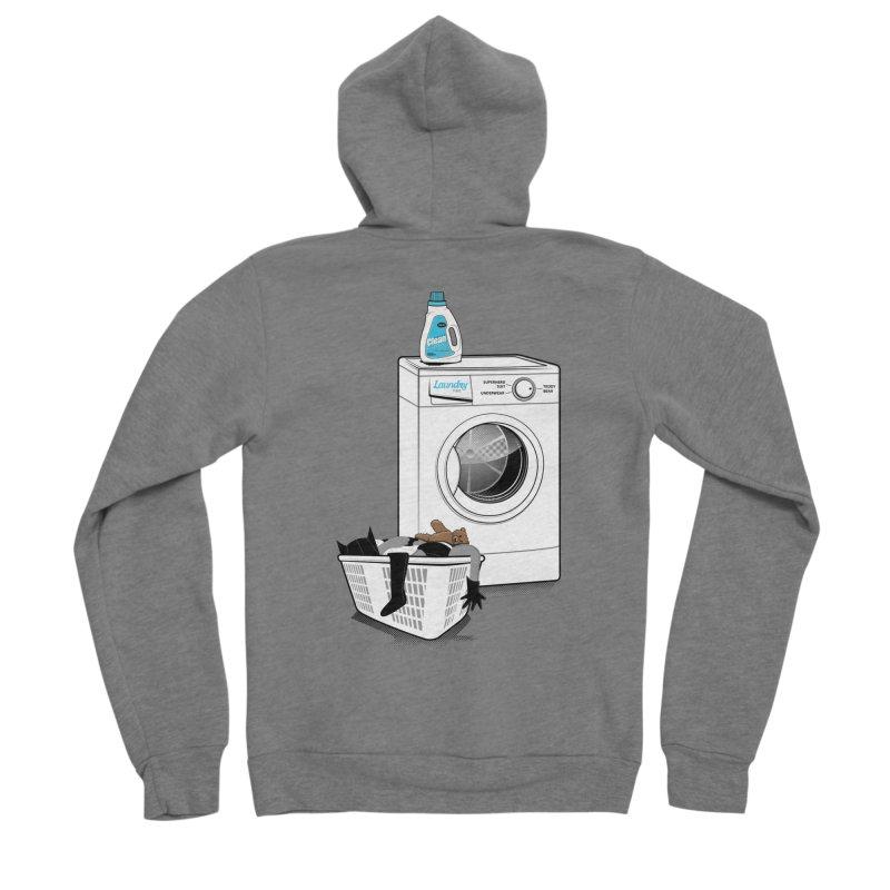 Laundry time Men's Sponge Fleece Zip-Up Hoody by magicmagic