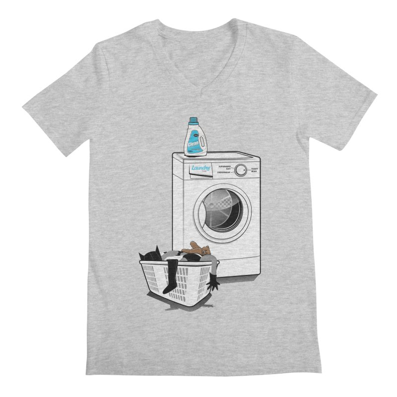 Laundry time Men's Regular V-Neck by magicmagic