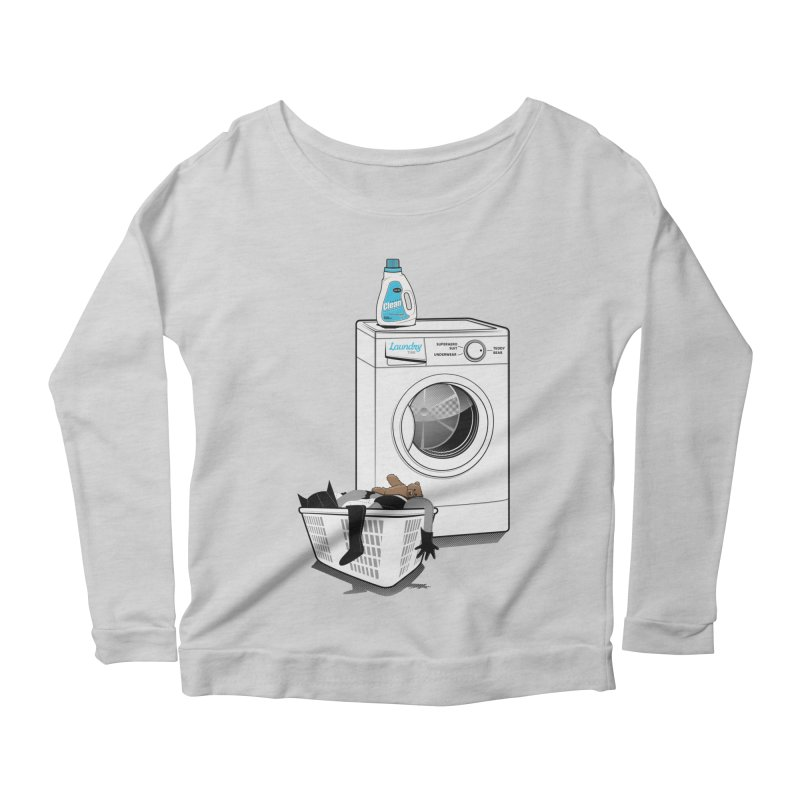 Laundry time Women's Scoop Neck Longsleeve T-Shirt by magicmagic