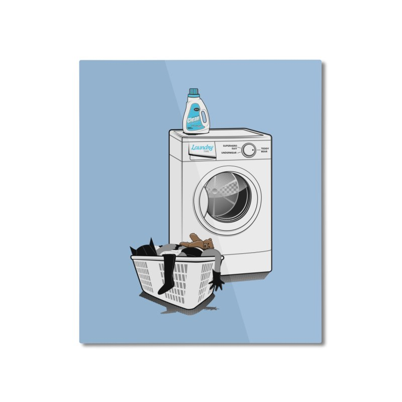 Laundry time Home Mounted Aluminum Print by magicmagic