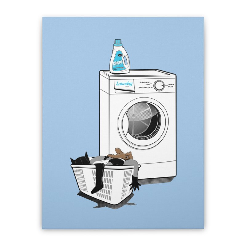 Laundry time Home Stretched Canvas by magicmagic
