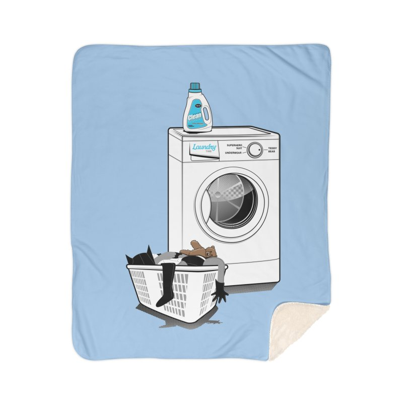 Laundry time Home Sherpa Blanket Blanket by magicmagic