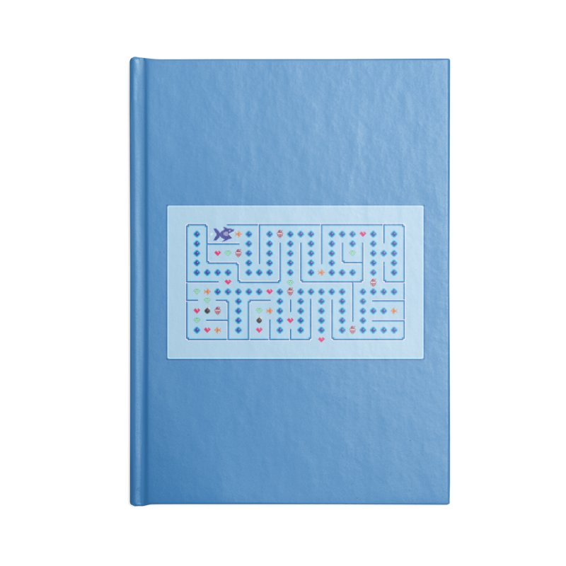 Lunch time Accessories Lined Journal Notebook by magicmagic