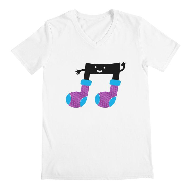 Warm music Men's Regular V-Neck by magicmagic
