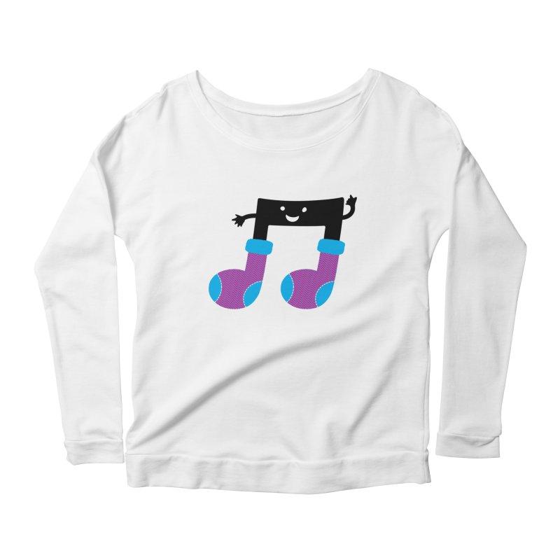 Warm music Women's Scoop Neck Longsleeve T-Shirt by magicmagic