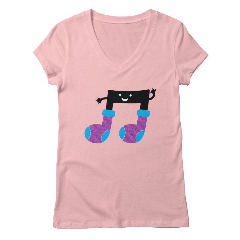Warm music Women's Regular V-Neck by magicmagic