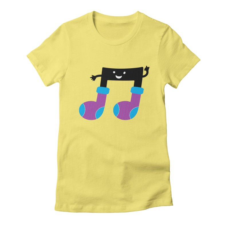 Warm music Women's Fitted T-Shirt by magicmagic