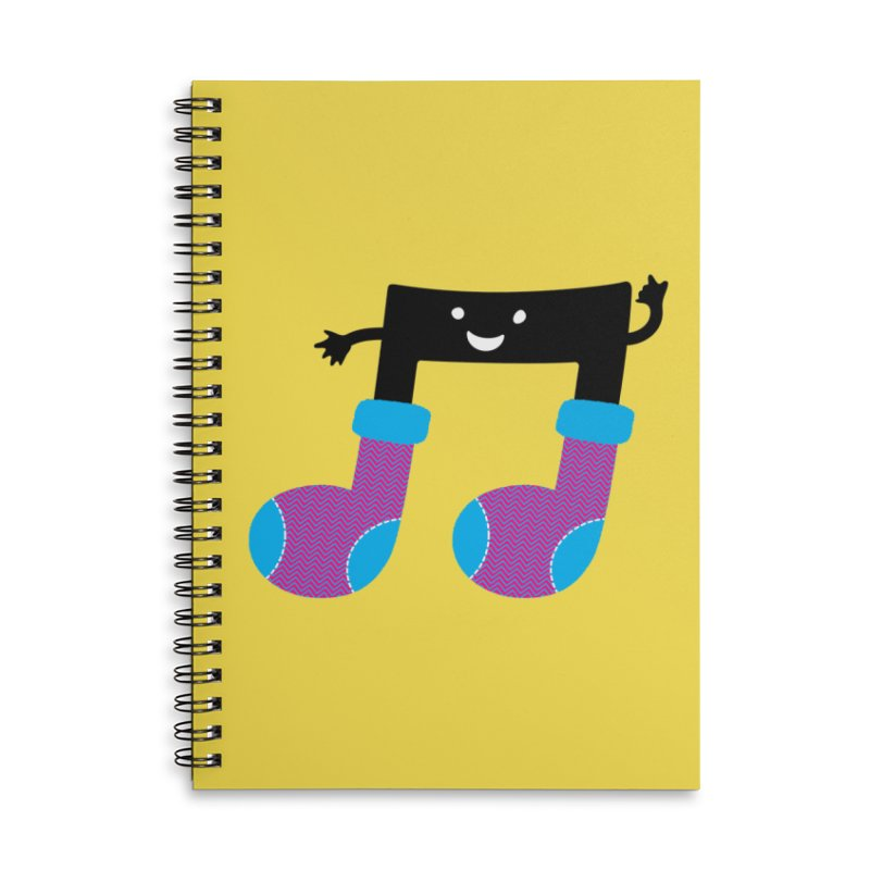 Warm music Accessories Lined Spiral Notebook by magicmagic
