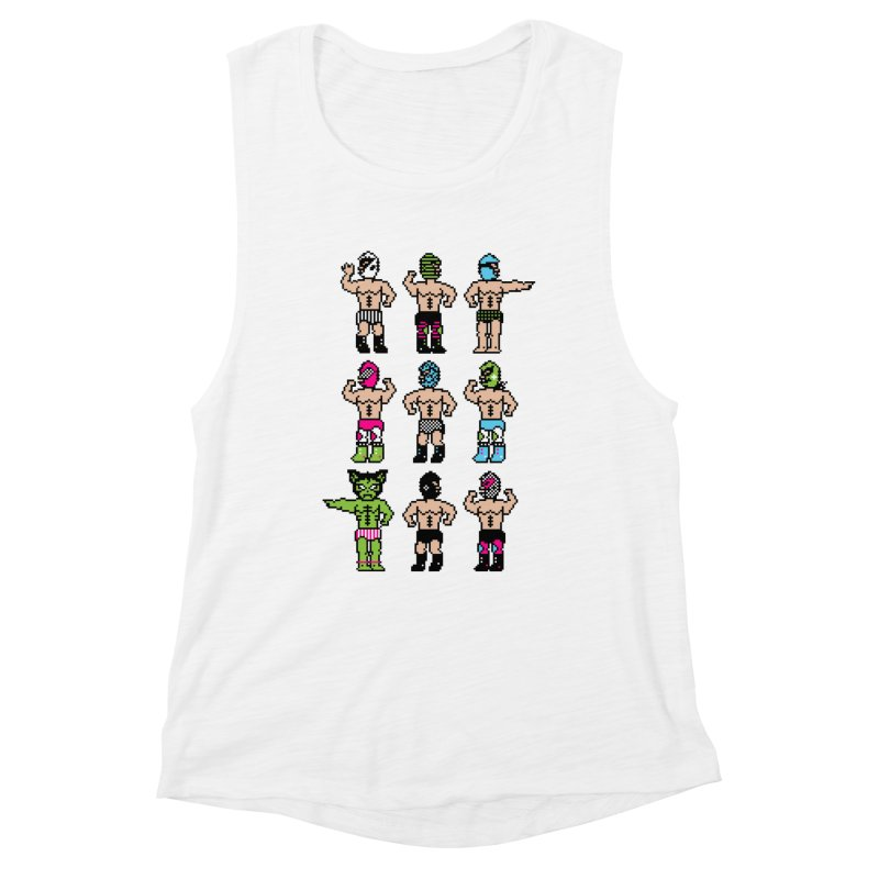 Wrestling maniacs Women's Muscle Tank by magicmagic