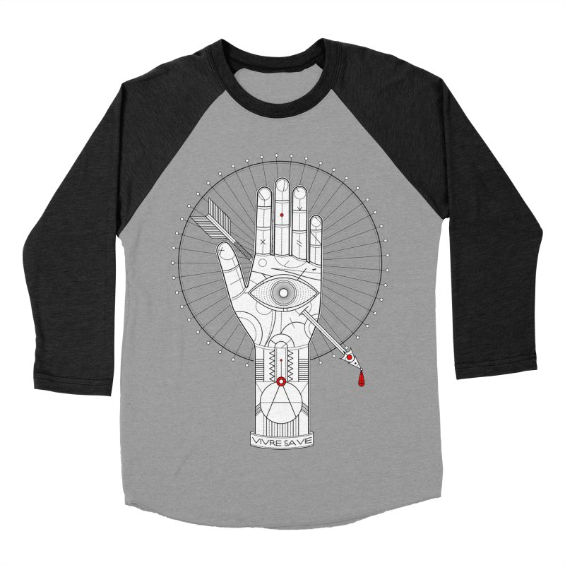 Vivre sa vie Women's Baseball Triblend T-Shirt by MagicMagic Artist Shop