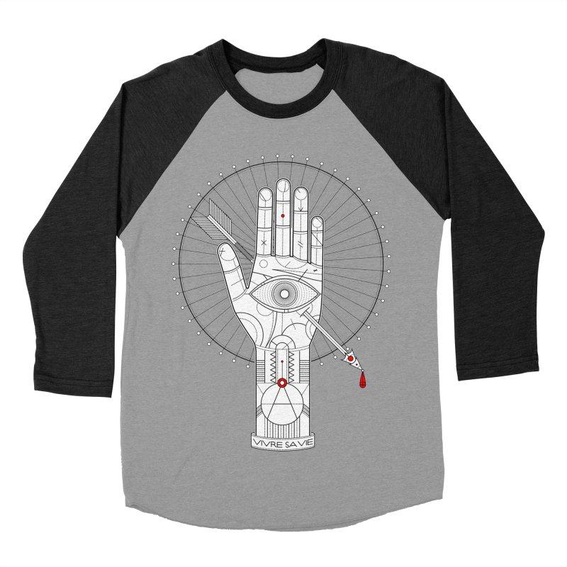 Vivre sa vie Men's Baseball Triblend T-Shirt by MagicMagic Artist Shop