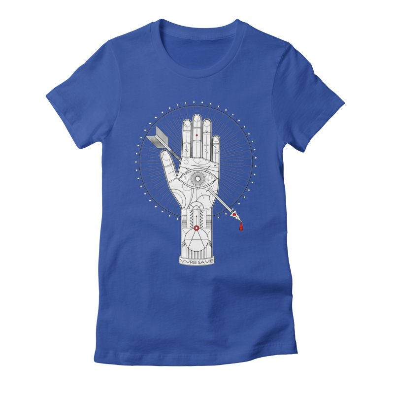 Vivre sa vie Women's Fitted T-Shirt by MagicMagic Artist Shop