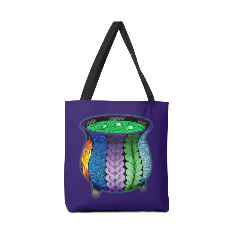 Elemental Cauldron in Tote Bag by Magic Mama Handmade