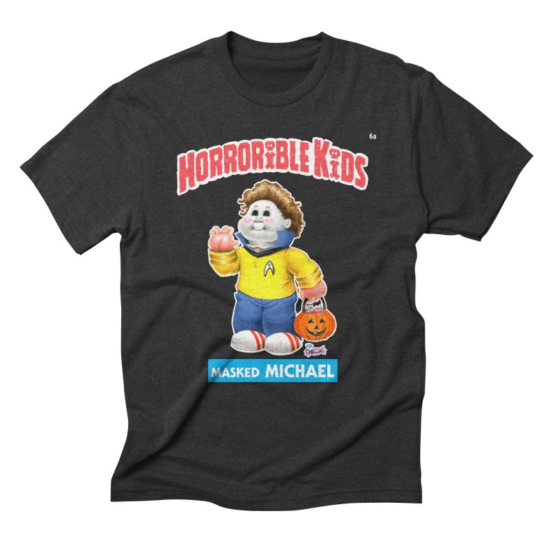HK6a - Masked MICHAEL Men's T-Shirt by Magic Marker Art - Mark Pingitore