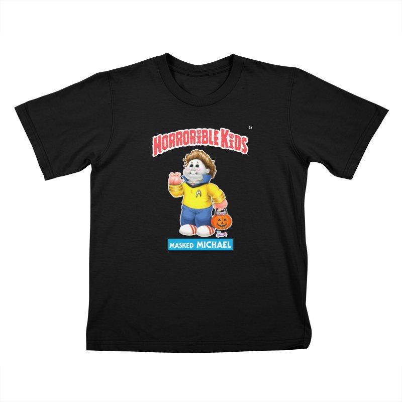 HK6a - Masked MICHAEL Kids T-Shirt by Magic Marker Art - Mark Pingitore