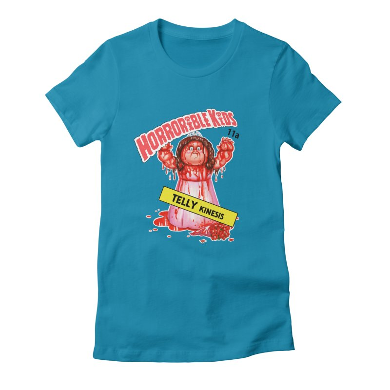 HK11a - TELLY Kinesis Women's Fitted T-Shirt by Magic Marker Art - Mark Pingitore