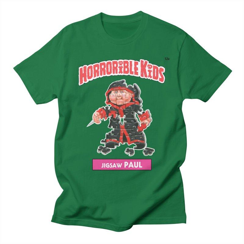 HK12a - Jigsaw PAUL Men's T-Shirt by Magic Marker Art - Mark Pingitore
