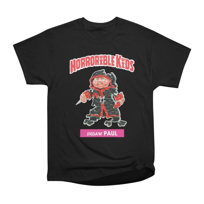 HK12a - Jigsaw PAUL Men's Heavyweight T-Shirt by Magic Marker Art - Mark Pingitore