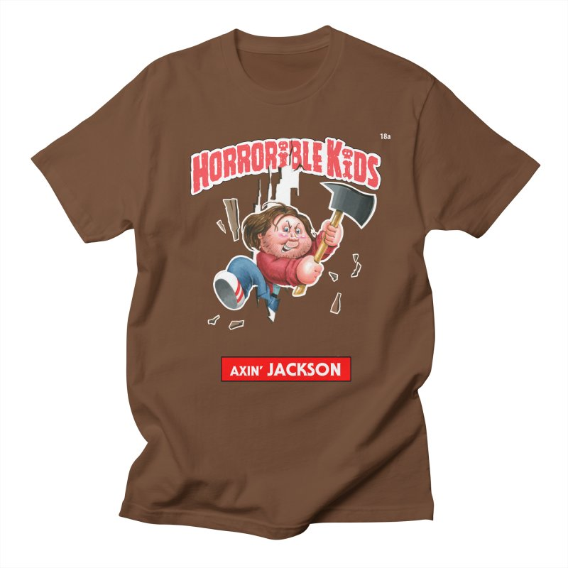 HK18a - Axin' JACKSON in Men's T-Shirt Brown by Magic Marker Art - Mark Pingitore
