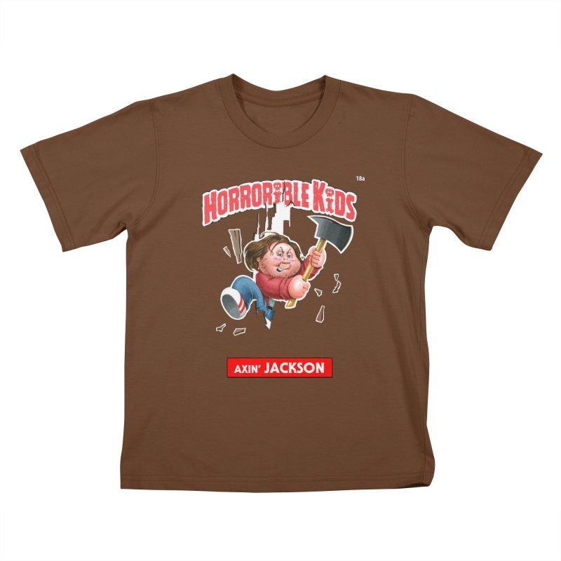 HK18a - Axin' JACKSON Kids T-shirt by Magic Marker Art - Mark Pingitore