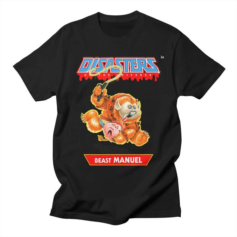 2a Beast MANUEL - Disasters of the Universe Men's T-Shirt by Magic Marker Art - Mark Pingitore