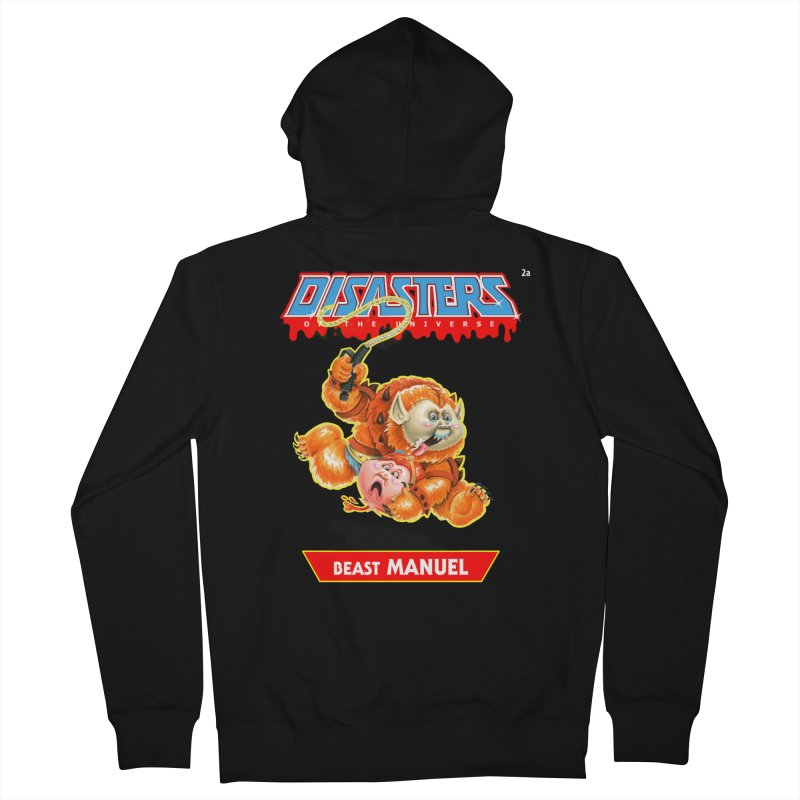 2a Beast MANUEL - Disasters of the Universe Men's Zip-Up Hoody by Magic Marker Art - Mark Pingitore