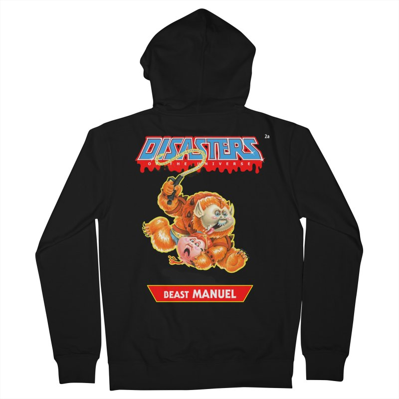2a Beast MANUEL - Disasters of the Universe Men's French Terry Zip-Up Hoody by Magic Marker Art - Mark Pingitore