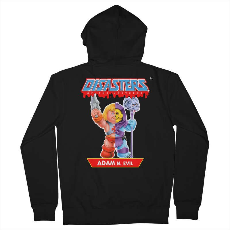 1a ADAM N. Evil - Disasters of the Universe Women's Zip-Up Hoody by Magic Marker Art - Mark Pingitore