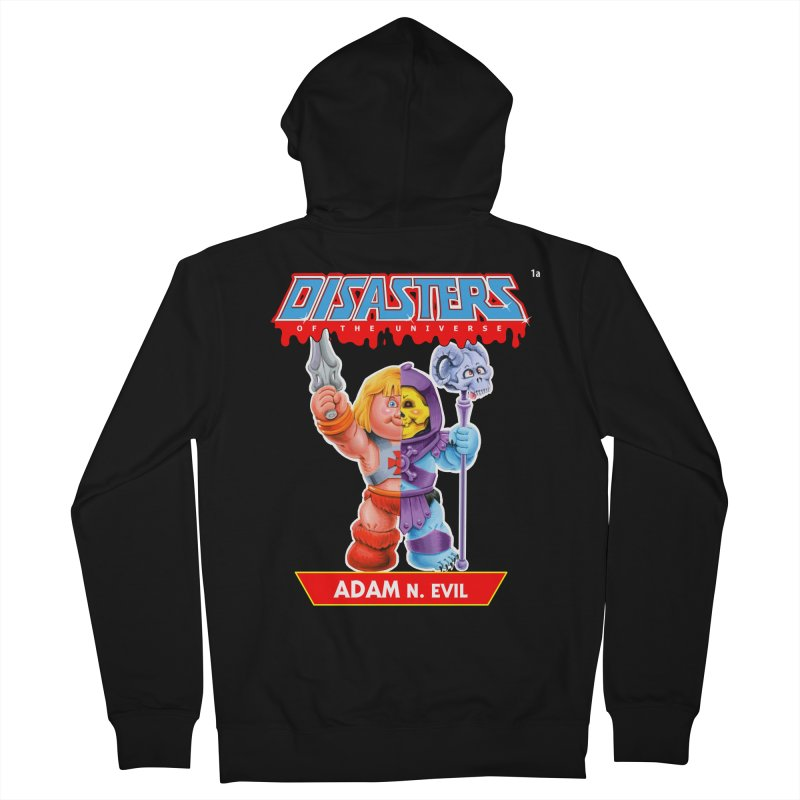 1a ADAM N. Evil - Disasters of the Universe Men's French Terry Zip-Up Hoody by Magic Marker Art - Mark Pingitore