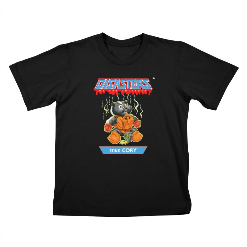 4a Stink CORY - Disasters of the Universe Kids T-Shirt by Magic Marker Art - Mark Pingitore
