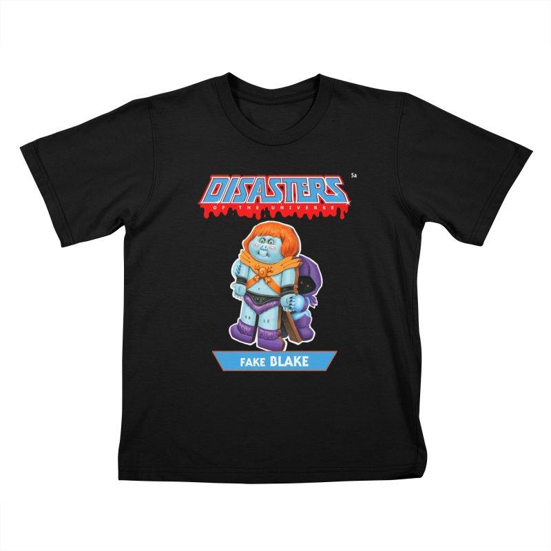 5a Fake BLAKE - Disasters of the Universe Kids T-Shirt by Magic Marker Art - Mark Pingitore