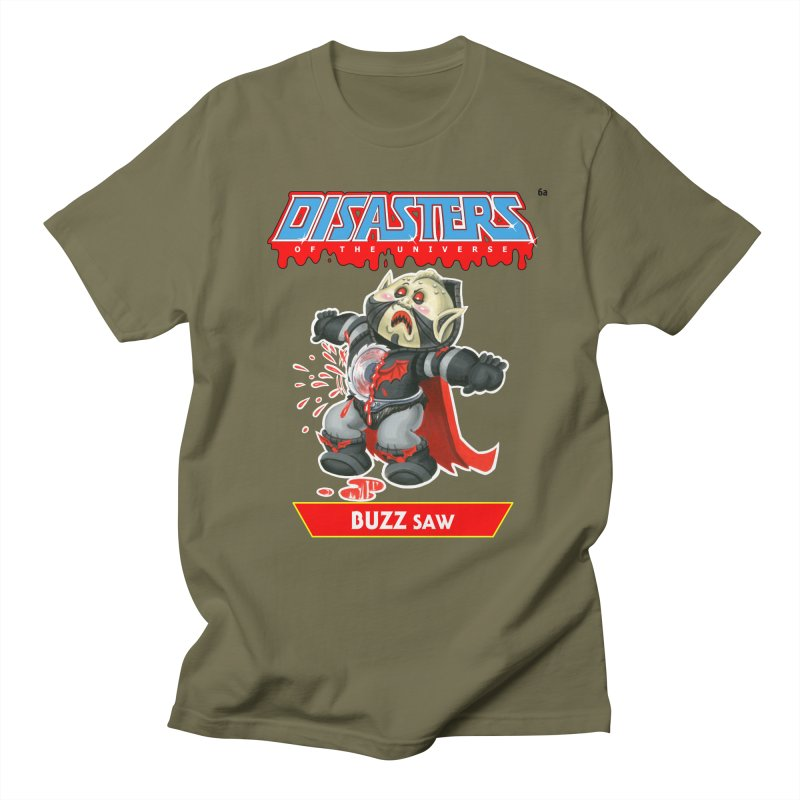 6a BUZZ Saw - Disasters of the Universe Men's Regular T-Shirt by Magic Marker Art - Mark Pingitore