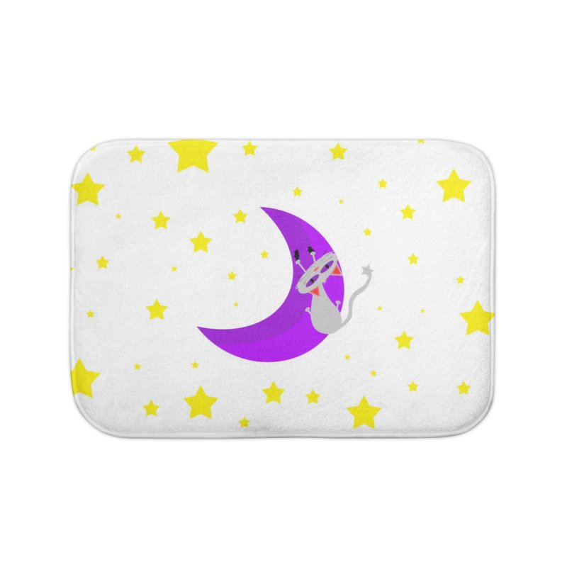 Princess Meera Sliding Down The Moon Home Bath Mat by Magic Pixel's Artist Shop