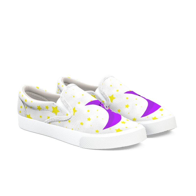 Princess Meera Sliding Down The Moon Women's Slip-On Shoes by Magic Pixel's Artist Shop