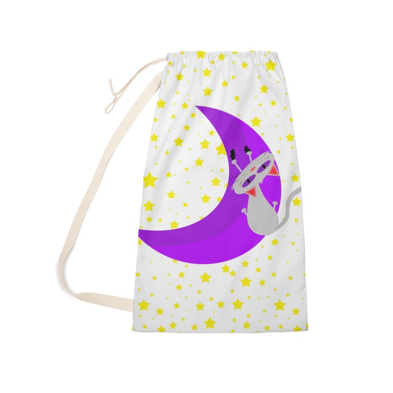 Princess Meera Sliding Down The Moon Accessories Laundry Bag Bag by Magic Pixel's Artist Shop