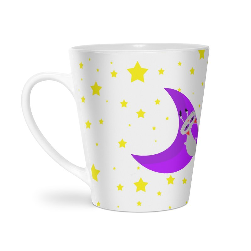 Princess Meera Sliding Down The Moon Accessories Latte Mug by Magic Pixel's Artist Shop