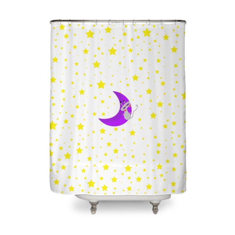 Princess Meera Sliding Down The Moon Home Shower Curtain by Magic Pixel's Artist Shop