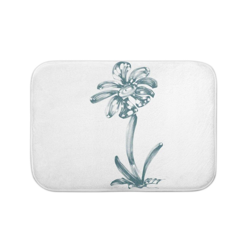 Futuristic Flower Home Bath Mat by Magic Pixel's Artist Shop