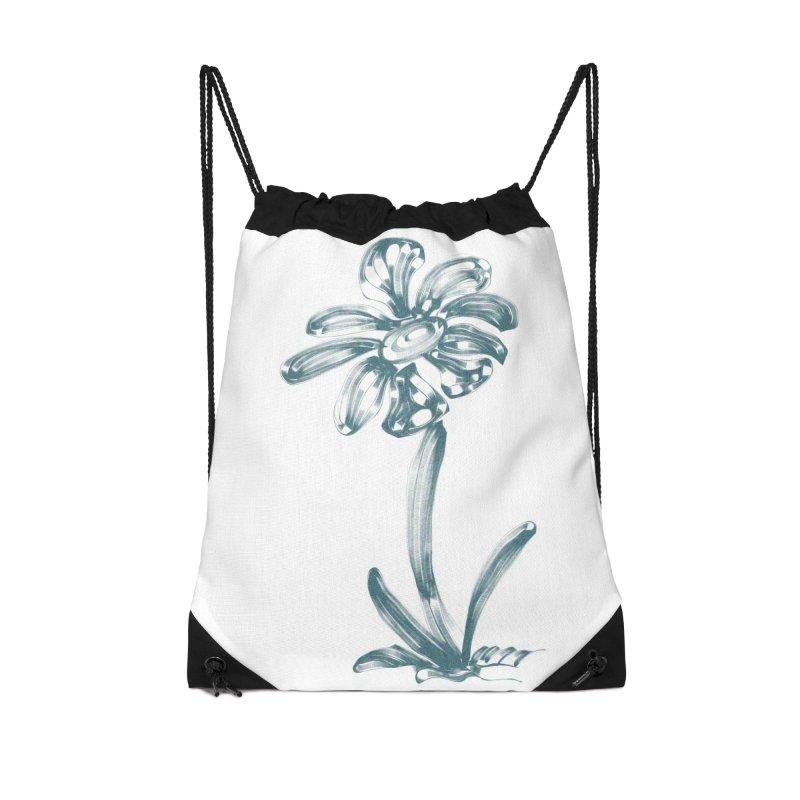 Futuristic Flower Accessories Drawstring Bag Bag by Magic Pixel's Artist Shop