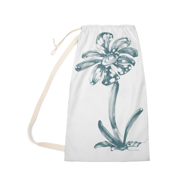 Futuristic Flower Accessories Laundry Bag Bag by Magic Pixel's Artist Shop